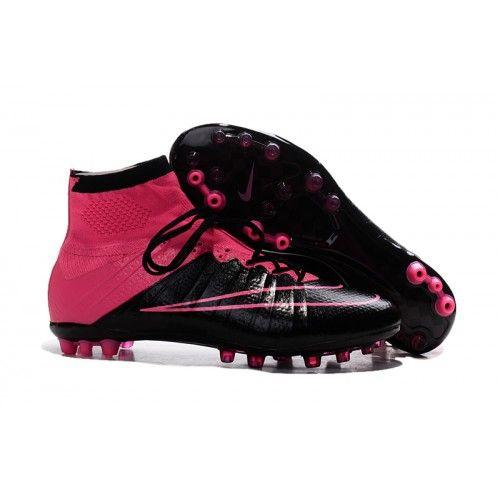 Salg Nike Mercurial Superfly Ag Billige Fotballsko Rosa Svart