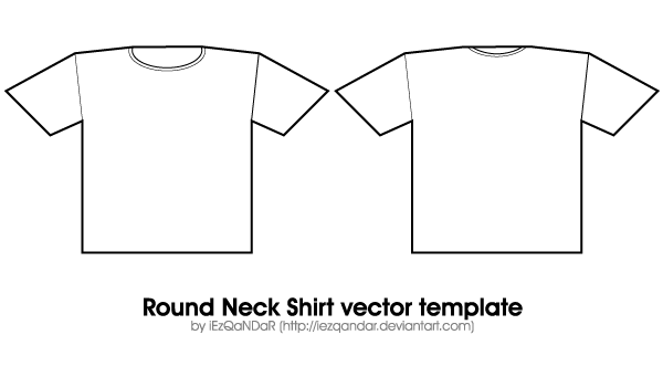Vector Round Neck Shirt Template  Template And Clip Art