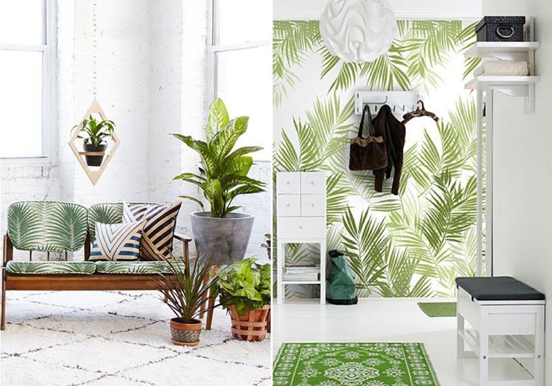 Tour of the Tropics Banana Leaf and Palm Print