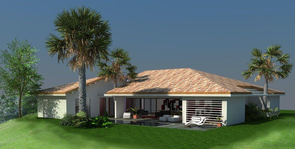 Maison contemporaine à patio, concept intérieur extérieur à côté de ...