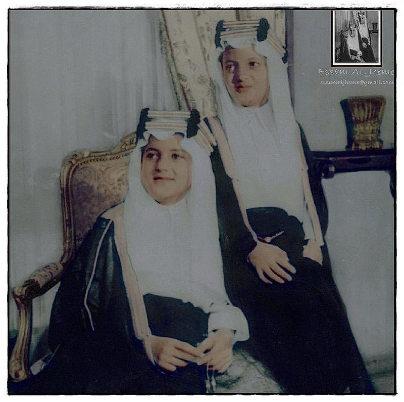 الامير سعد الفيصل والامير خالد الفيصل Arab Celebrities Historical News King Salman Saudi Arabia