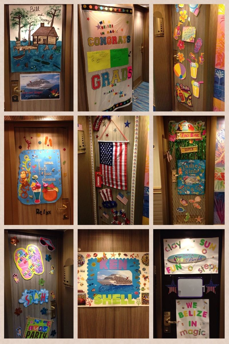 Cruise Door decorating