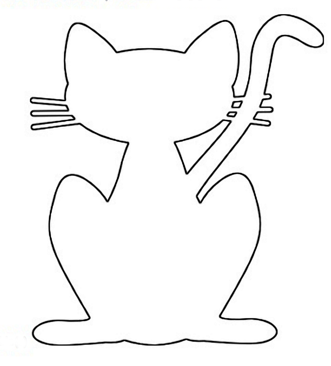 Scroll saw patterns to print make cat a plywood cutout for Templates for wood cutouts