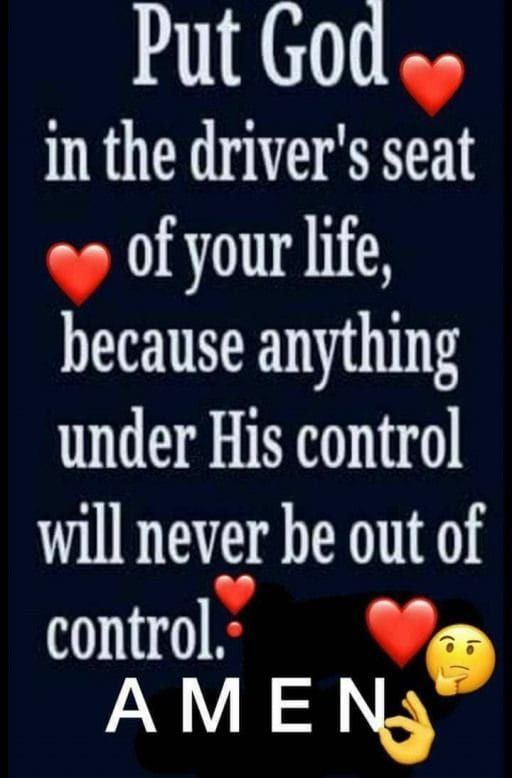 Put God in the driver's seat