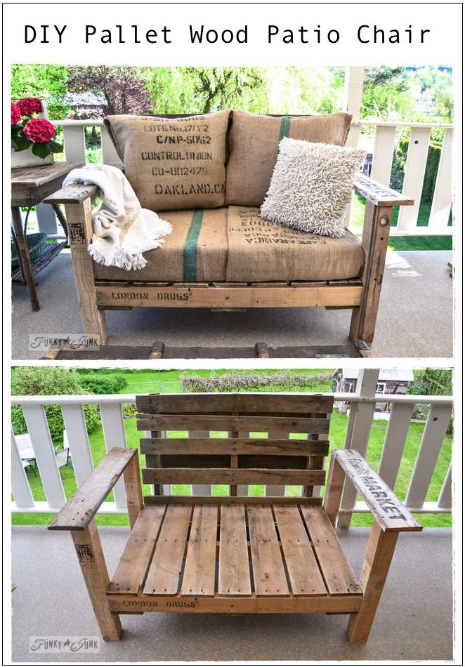 Pallet Wood Patio Chair - 15 Best DIY Outdoor Pallet Furniture Ideas DIY Furniture