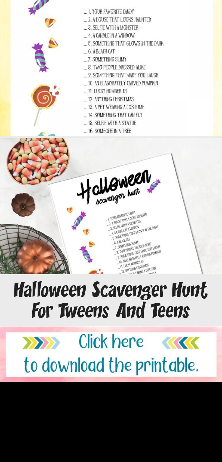 Halloween Scavenger Hunt For Tweens And Teens Halloween
