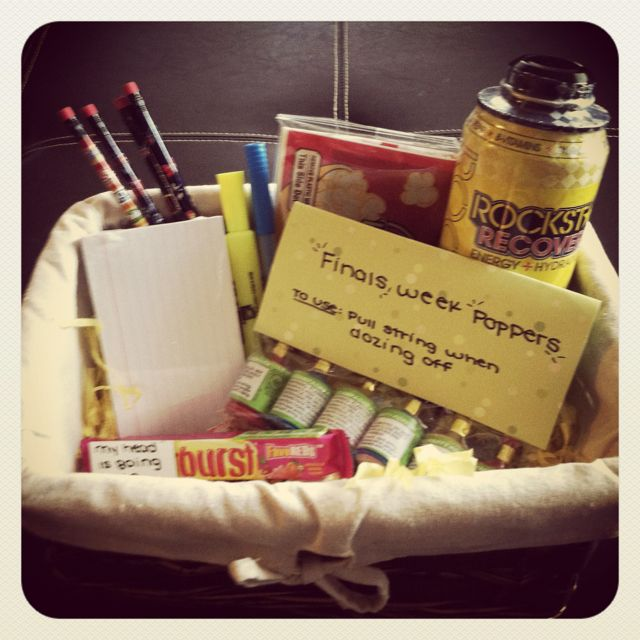 Finals week basket www.bmhalefamily.blogspot.com
