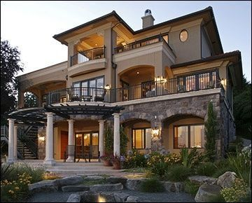 Exterior I Love The Balconies Dream House Exterior House Designs Exterior Luxury Homes