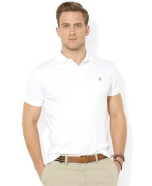 0a28e823e6cd Polo Ralph Lauren Men's Pima Cotton Soft-Touch Polo - White XXL ...