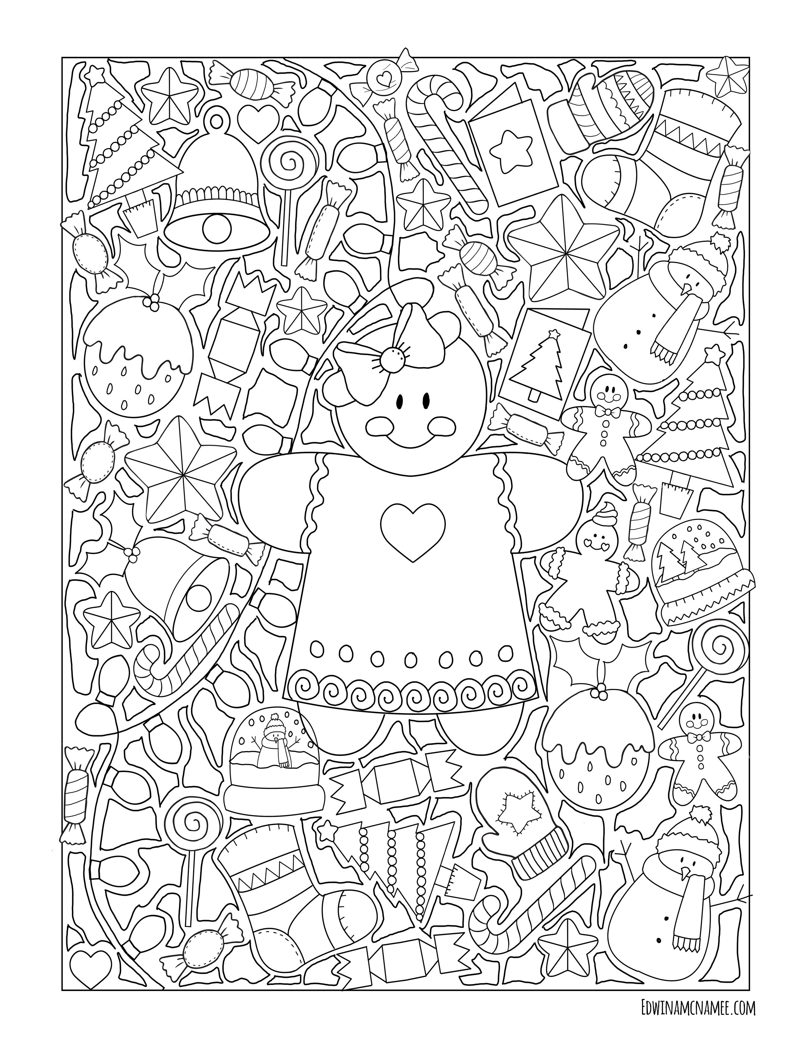christmas freebies – Edwina Mc namee  Christmas coloring pages