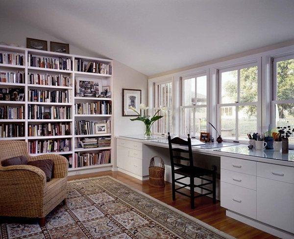 organizieren sie ihren arbeitsplatz zu hause b cher. Black Bedroom Furniture Sets. Home Design Ideas