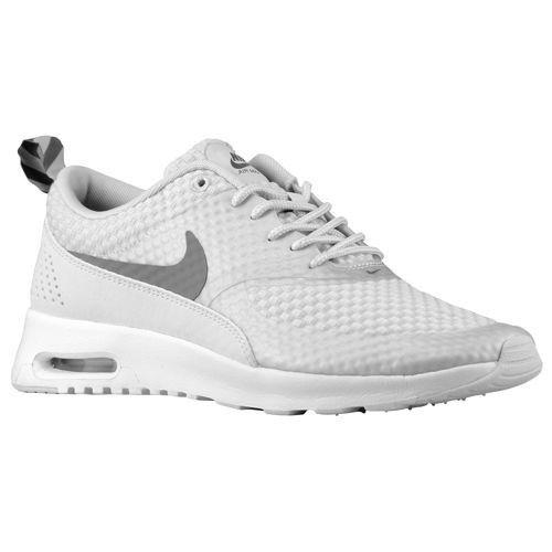 watch f58b4 ab3cb Nike Air Max Thea PRM Femme chaussures de course de la Lumière de Base  gris Metallic silver white Cool gris-(XUvXmw) 1