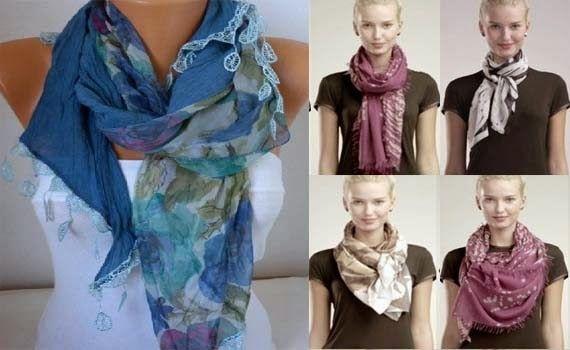 видео как красиво завязывать платки шарфы