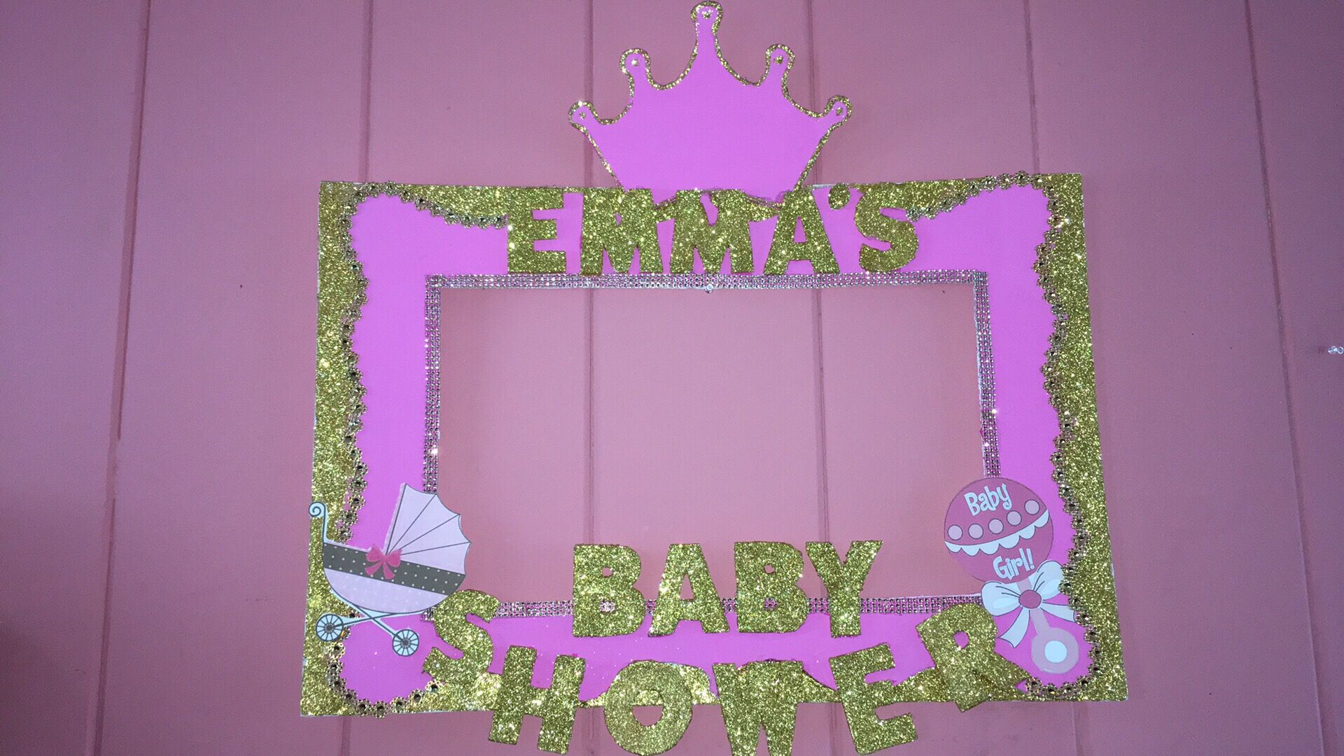 Girl Baby shower selfie frame by stephycreations | SELFIE FRAMES BY ...