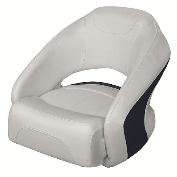 Bucket Seat With Flip Up Bolster Gray Base With Navy Or Red