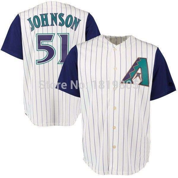 watch 81a36 dd30a randy johnson diamondbacks throwback jersey