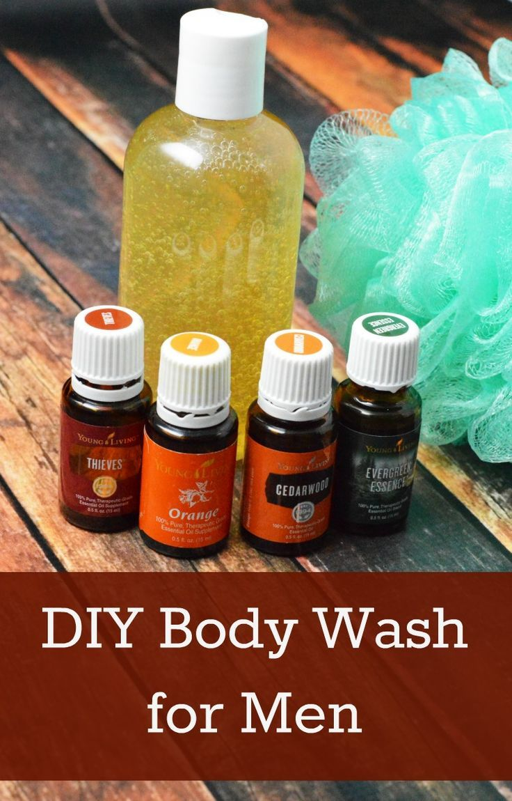 Homemade body wash for men