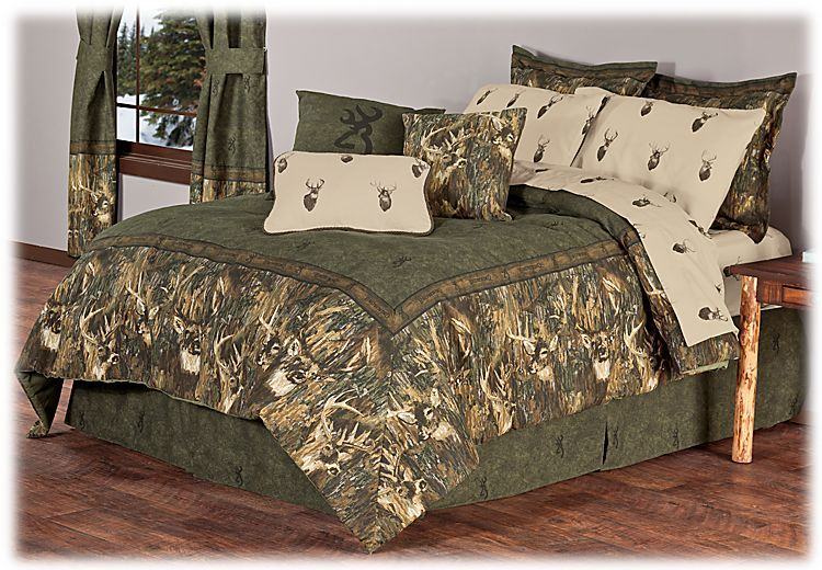 Browning Whitetails Collection Bedding Home decor, Bed