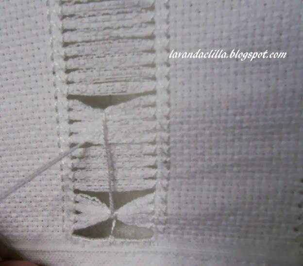 Lavanda e Lillà: Tutorial Sfilato su Asciugamano con Fascia Aida