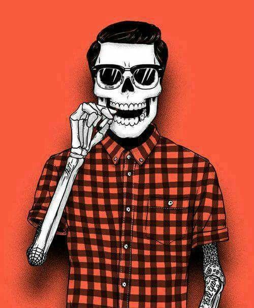 Style esqueleto calavera moda estilo skate Fondos de