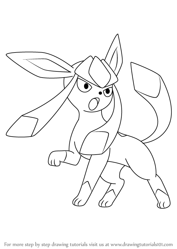 Learn How To Draw Glaceon From Pokemon Pokemon Step By Step Drawing Tutorials Pokemon Coloring Pages Pokemon Coloring Pokemon Coloring Sheets