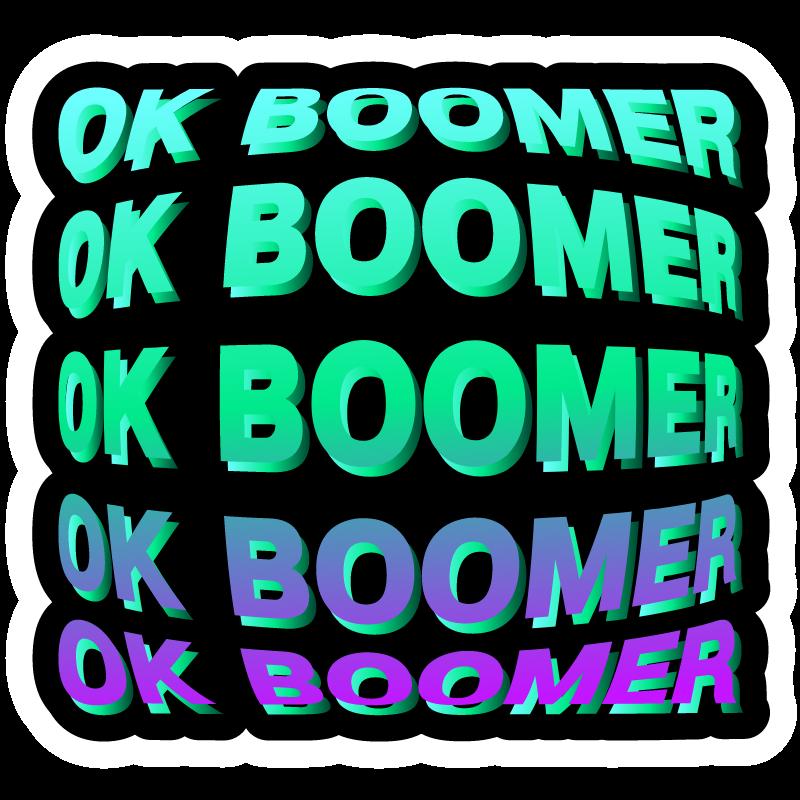 Ok Boomer On A Black Background Black Backgrounds Ok Boomer Boomer