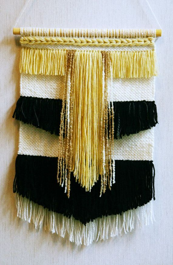 Woven wall hanging called Golden Path symbolizes well-being and ...