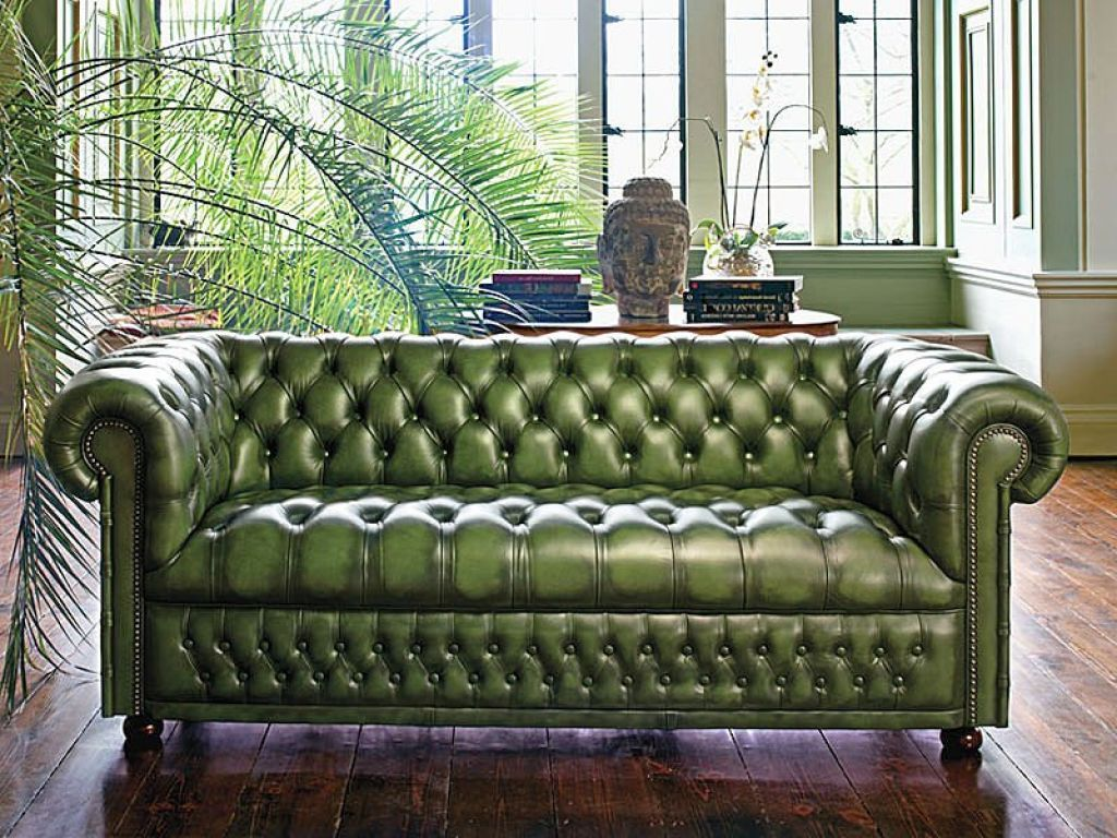 forest green leather chesterfield sofa for sale - Google ...