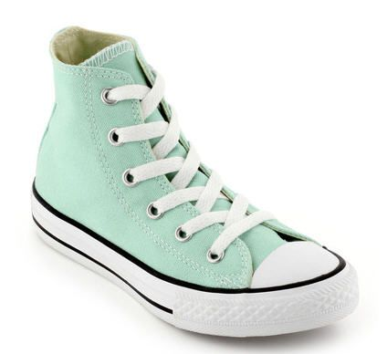 Baskets All Star montantes en canvas vert d'eau Vert ...