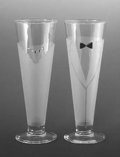 Bride And Groom Wedding Pilsner Glasses Who Says You Can T Toast