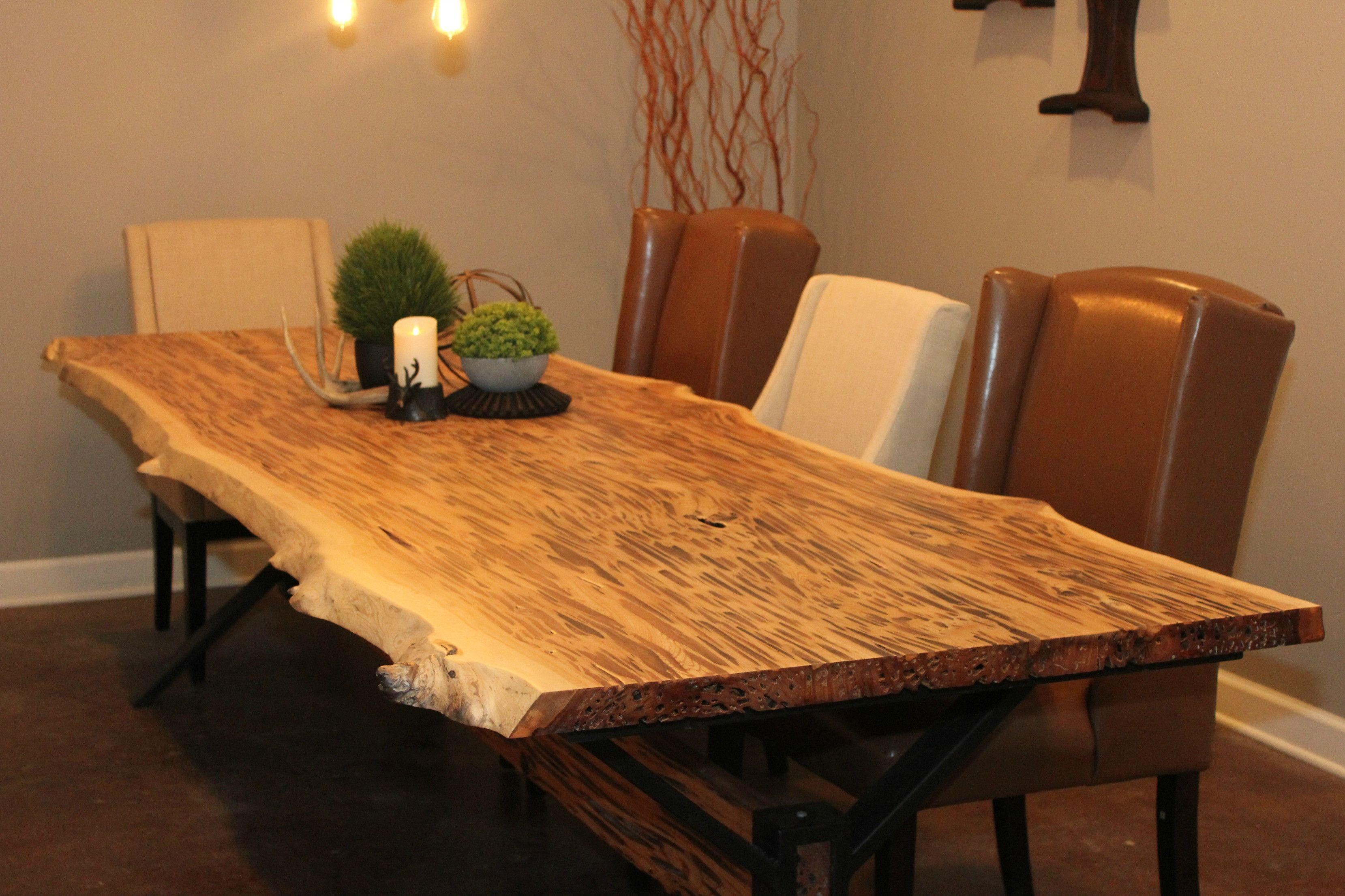 Rough Edge Plank Dining Table Dining Table Table Plank Table