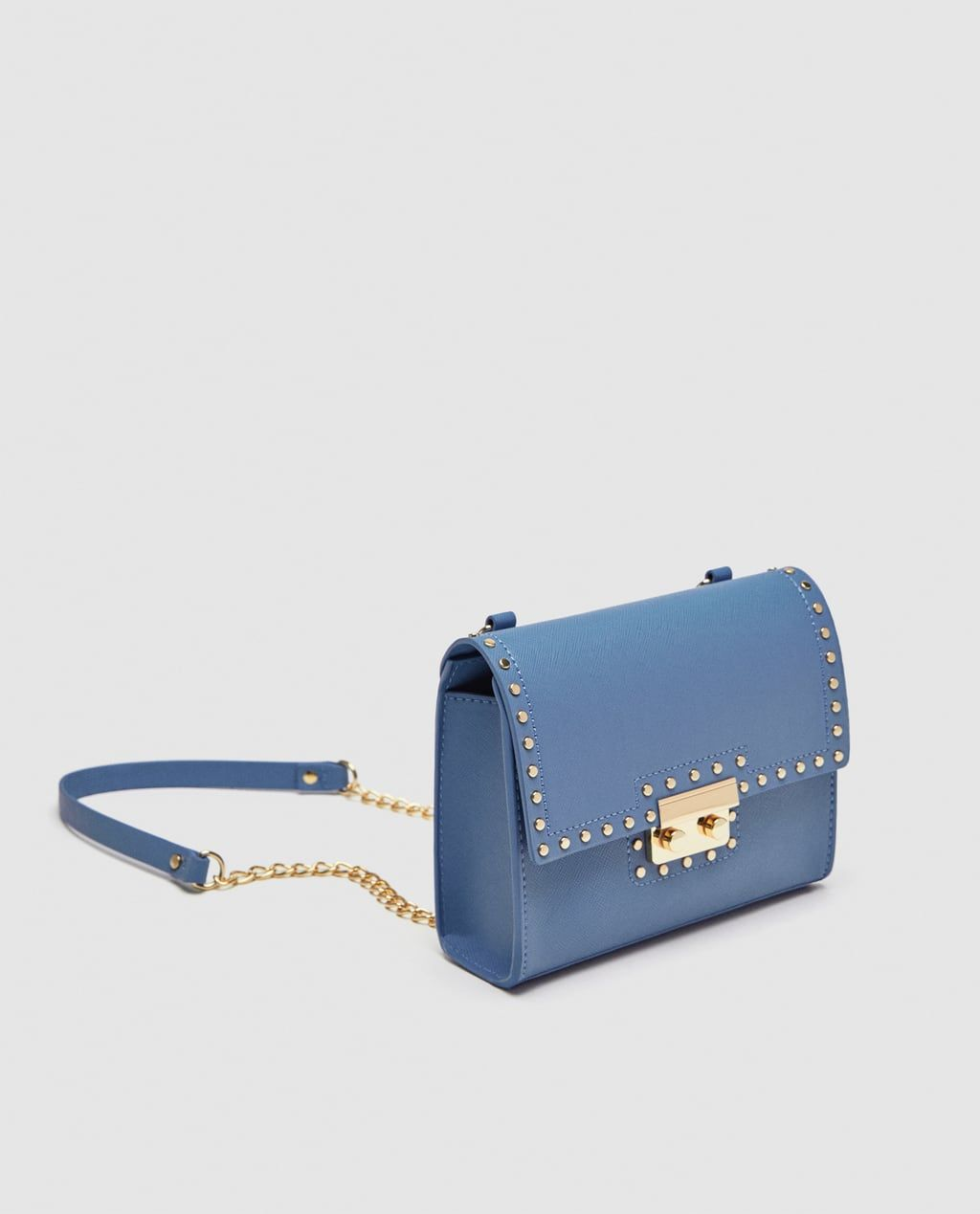 9a73c9ef892 STUDDED CROSSBODY BAG-View all-BAGS-WOMAN | ZARA Switzerland Zara, Gouden