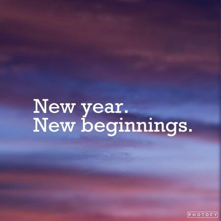 New year. New beginnings.  (made with #photofy) #Quotes #NewYear #January