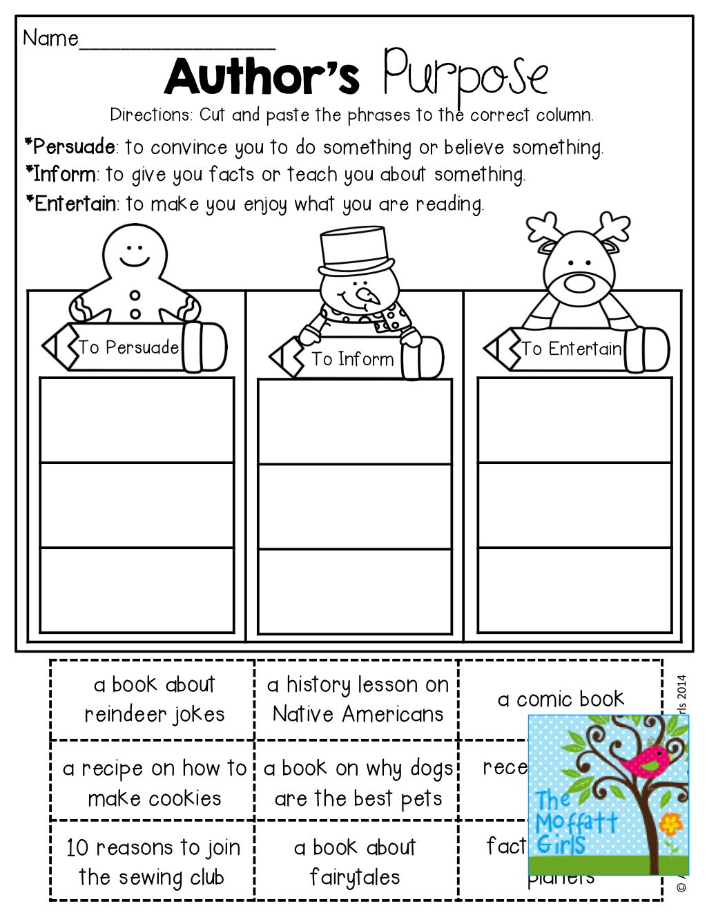 worksheet Authors Purpose Worksheet authors purpose and tons of other great resources reading resources