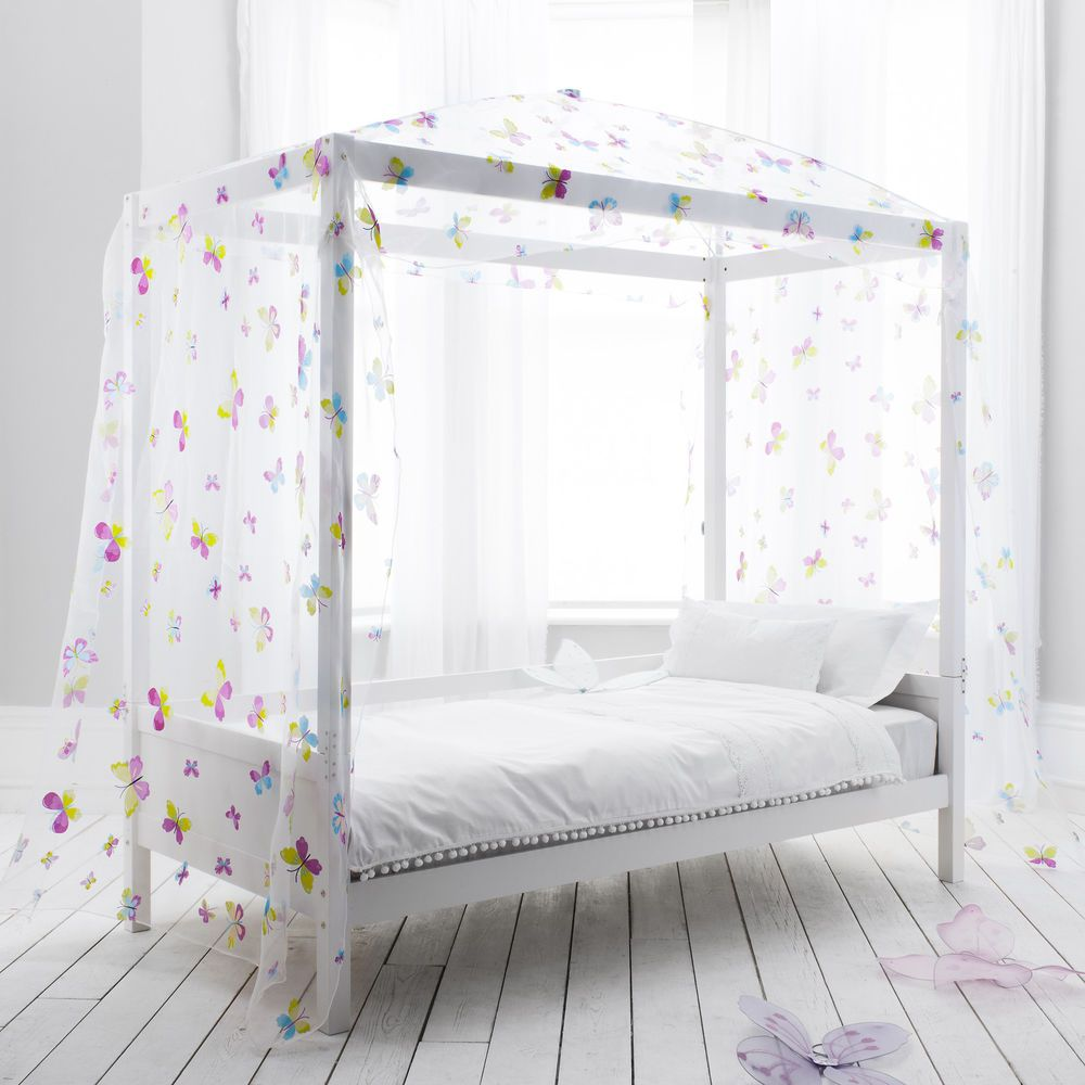 Butterfly Canopy Daybed 4 Poster Bed Kids Bed Canopy