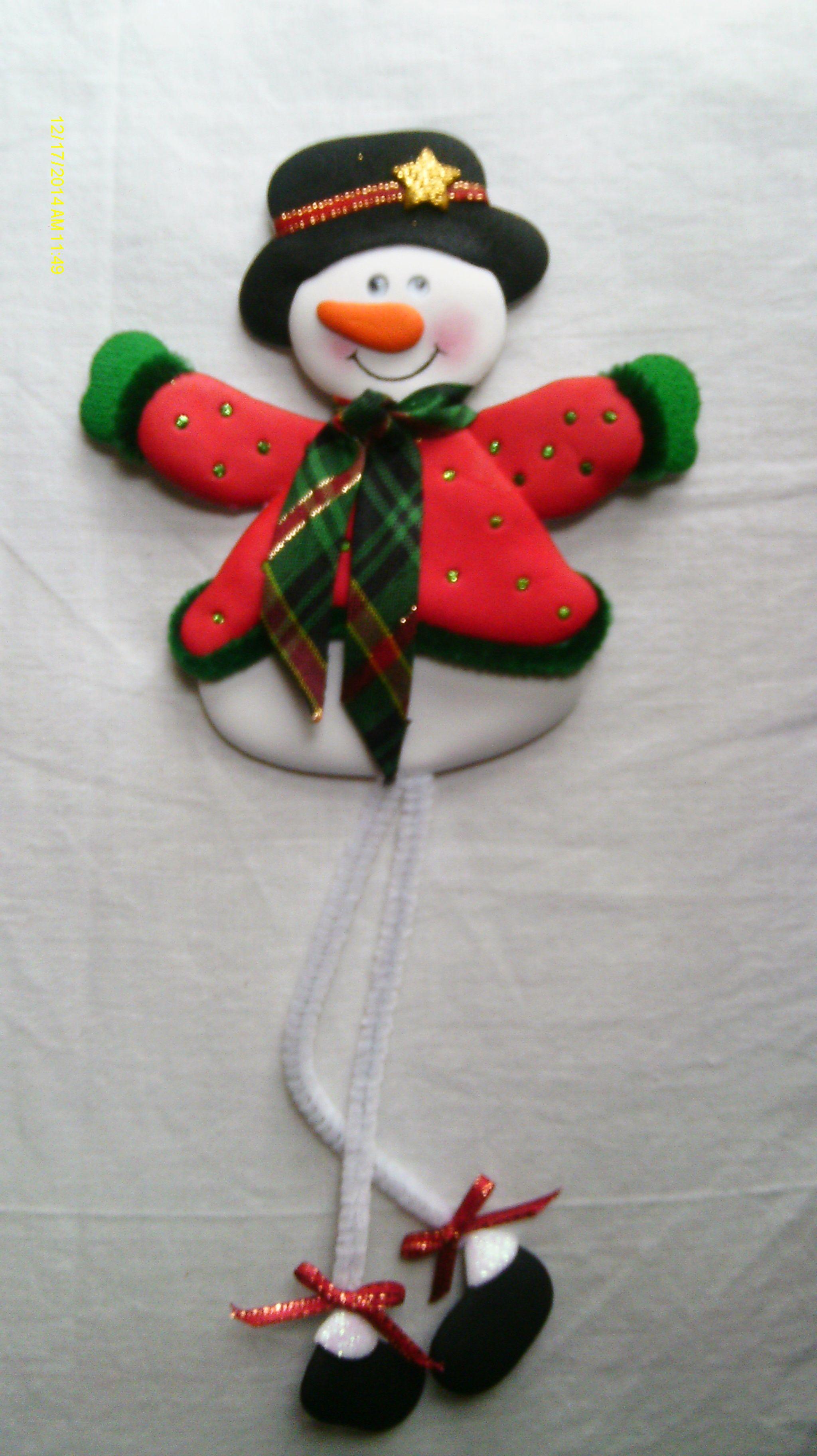 Muñeco de Nieve patas largas imantado para decorar la nevera ...