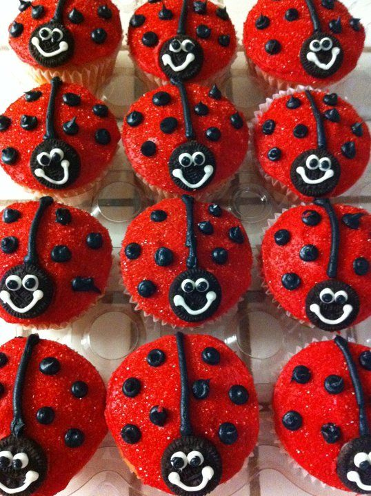 Ladybug Cupcakes From Mylilcupcakes 1st Birthday