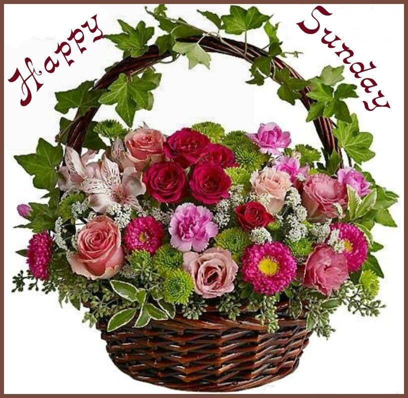 Sunday by Catherine Julian Flower arrangements, Basket