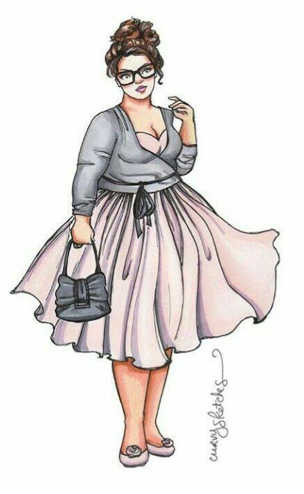 Pin By Joanna Teodoro On Plus Size Plus Size Art Curvy Art Fashion Sketches