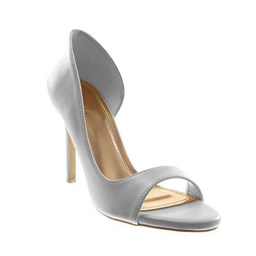 Stiletto Ouverte Escarpin Sandale Slip On Mode Chaussure Angkorly T1cFKlJ