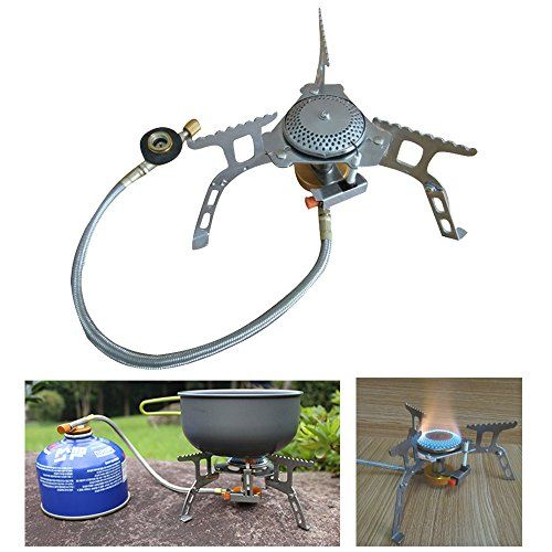 Hiking Mini Gas Cookware Stove Pocket BBQ Kitchen Outdoor Hiking Backpacking BT
