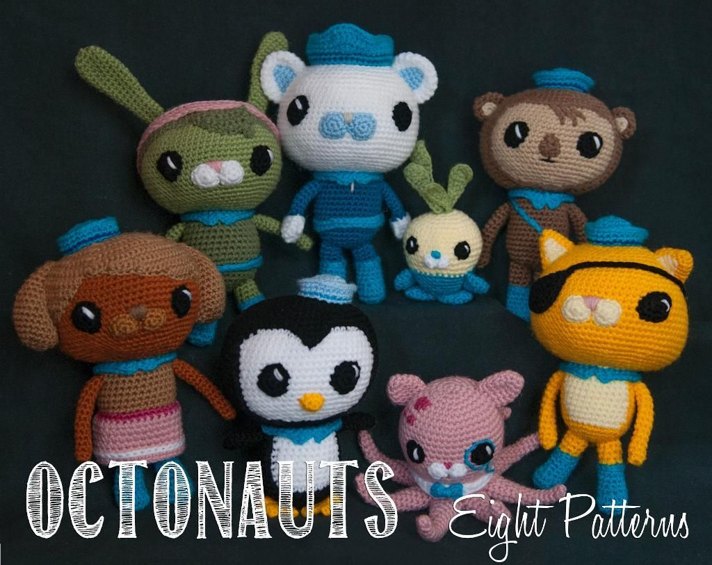The Octonauts Bundle - Eight Patterns | Patterns, Amigurumi and ...