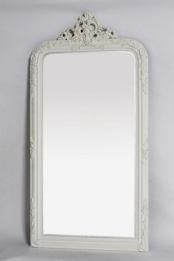 Large French Style White Floor Standing Mirror Floor Standing