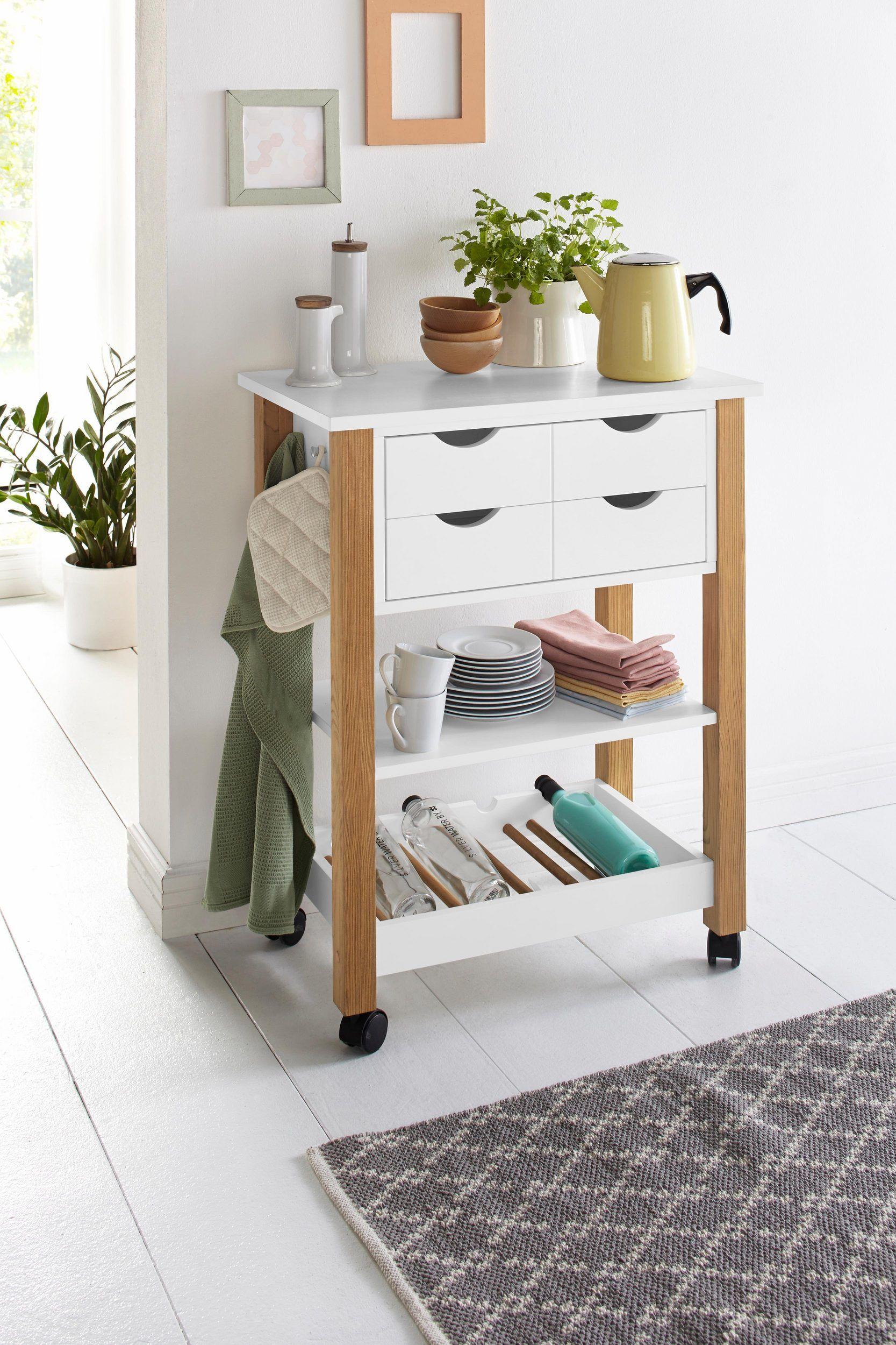 home affaire k chenwagen atlantic auf rollen online kaufen in 2020 rollwagen k che k che. Black Bedroom Furniture Sets. Home Design Ideas
