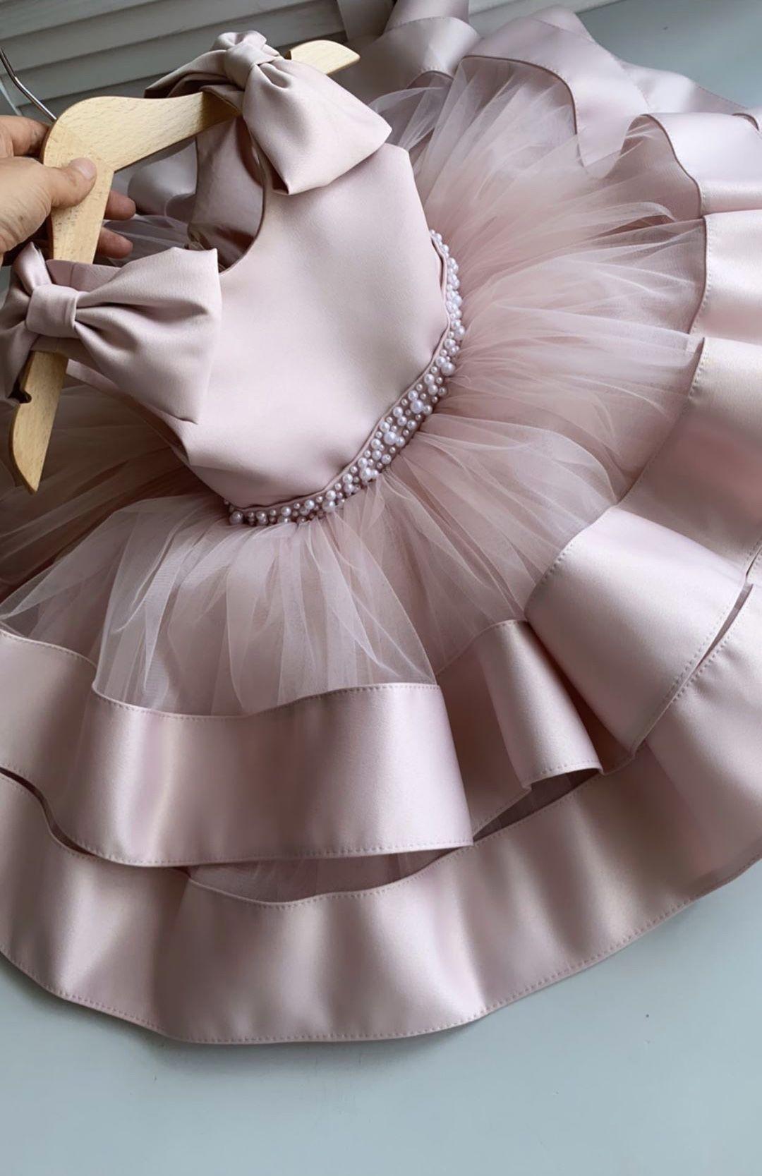 Princess dress for girls Soft pink dress Birthday dress for  Etsy