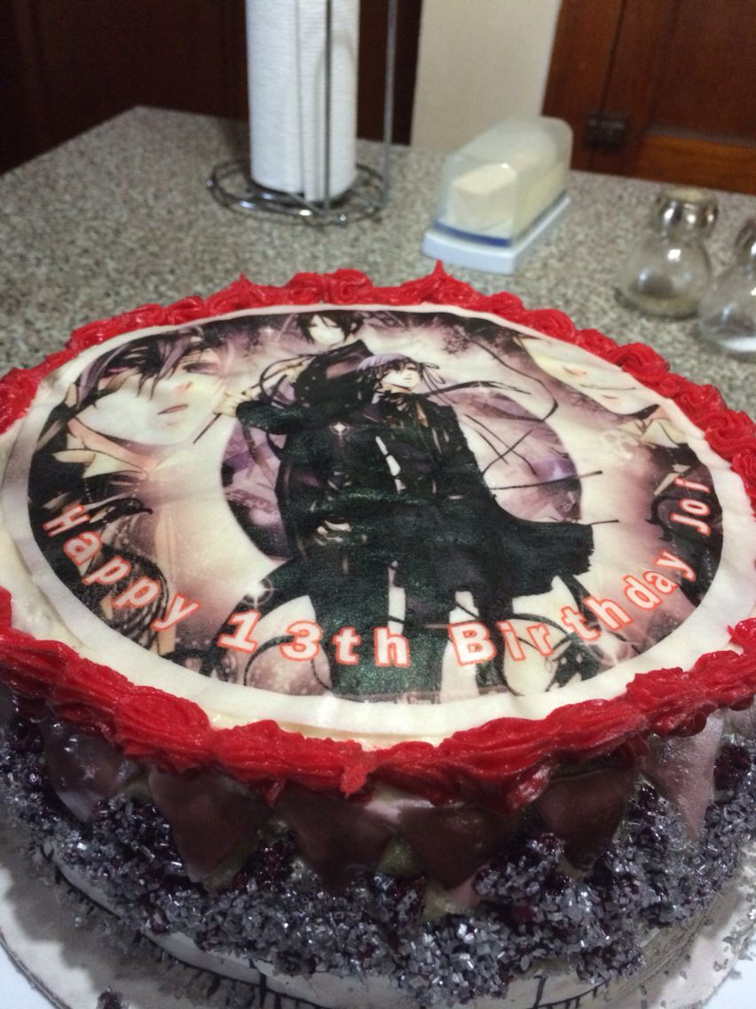 Black Butler Cake … | I NEED | Anime…