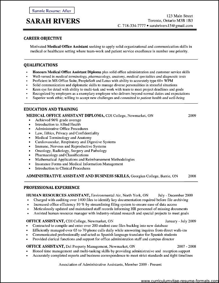 Office Assistant Resume Objective Free Samples , Examples
