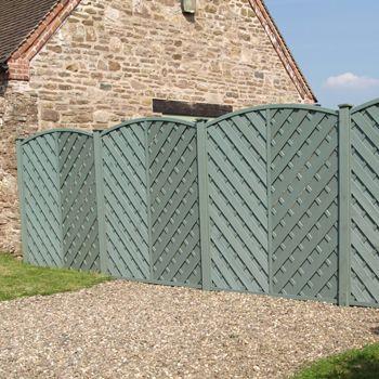 6ft High Grange Elite St Meloir Coloured Fencing Pre Painted Sage Green F