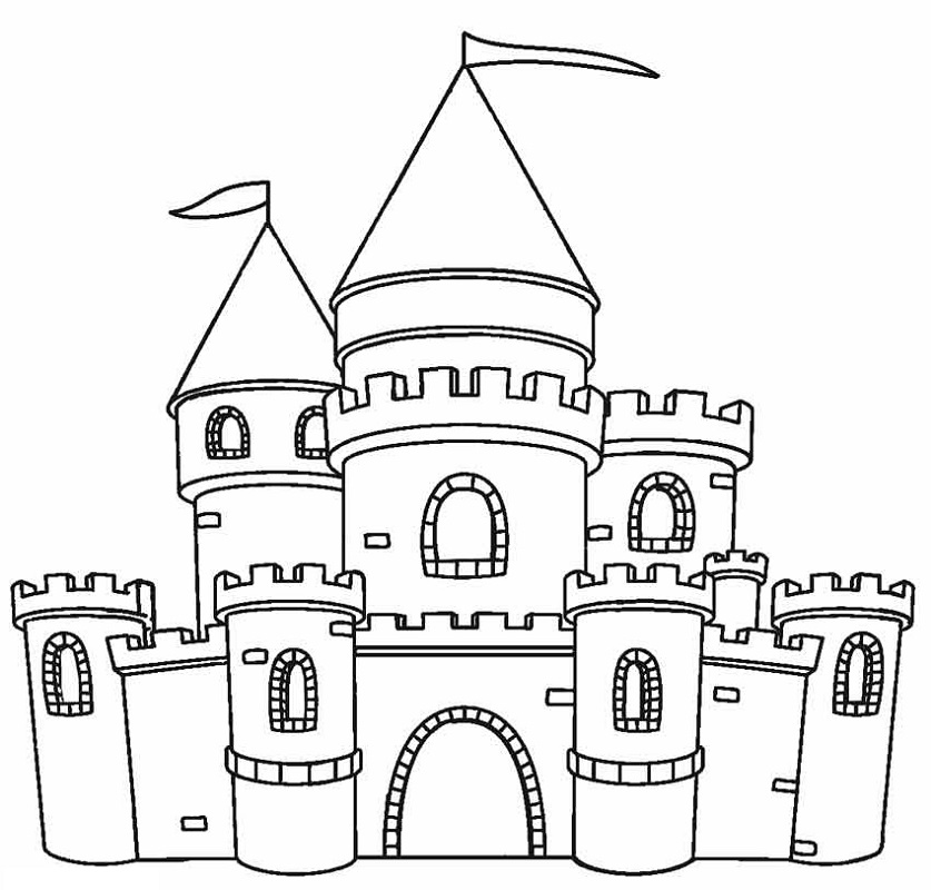 Castle Coloring Pages 1 Quick Usage Educative Printable Castle Coloring Page Coloring Pages Dragon Coloring Page