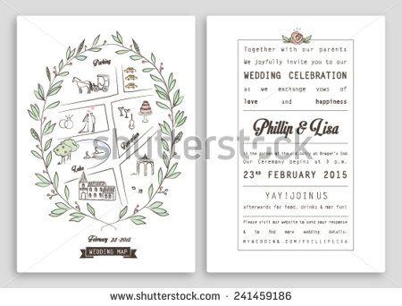 wedding invitation template with map royal invitation design nice